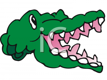 Alligator teeth clipart picture freeuse library Clipart of an Alligator\'s Head - AnimalClipart.net picture freeuse library