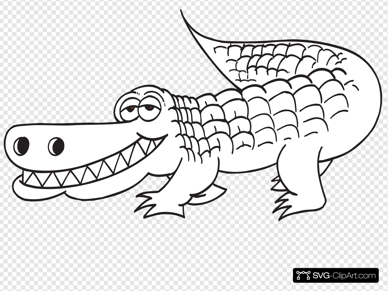 Alligator teeth clipart png library download White Alligator Outline Clip art, Icon and SVG - SVG Clipart png library download