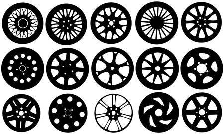 Alloy wheels clipart
