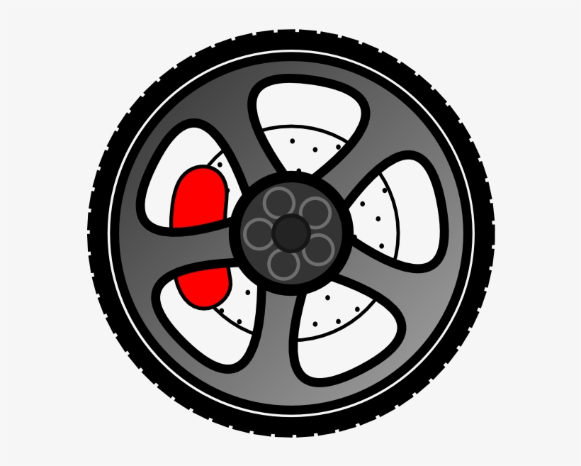 Alloy wheels clipart clipart black and white Car Clipart Wheel - Alloy Wheels Clipart - 600x600 PNG Download - PNGkit clipart black and white