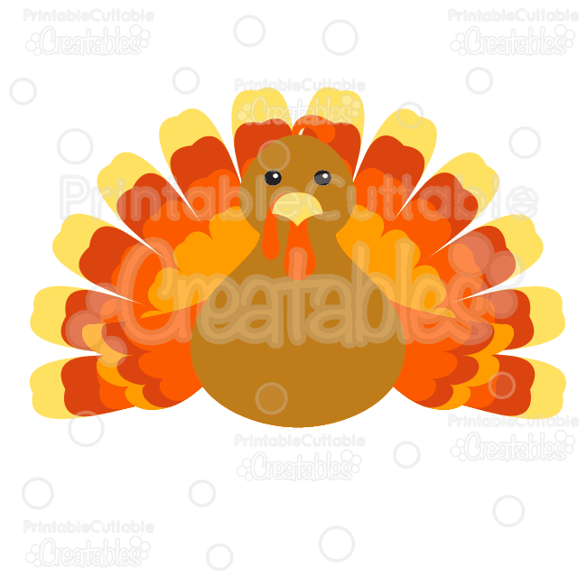 Almost turkey time clipart transparent library Cute Thanksgiving Turkey Free Cutting File & Clipart transparent library