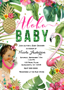 Aloha baby clipart picture black and white library Aloha Baby Shower Invitations   Zazzle picture black and white library