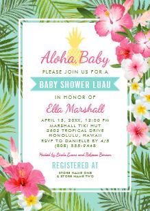 Aloha baby clipart royalty free Aloha Baby Shower Invitations   Zazzle royalty free