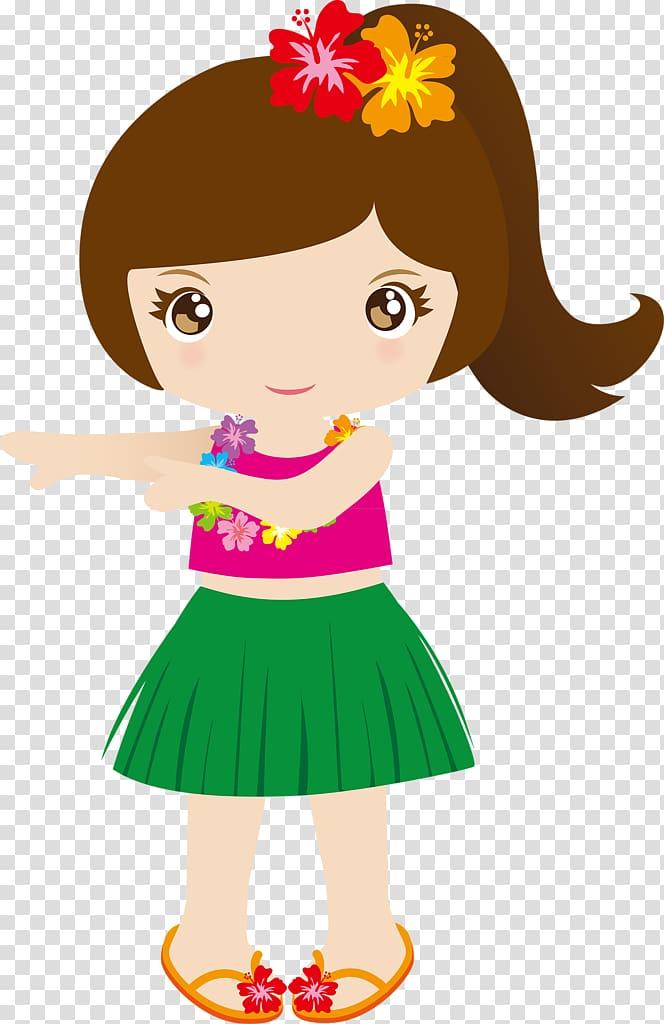 Aloha baby clipart jpg transparent Girl in Hawaiian dress illustration, Hawaiian Punch , aloha ... jpg transparent