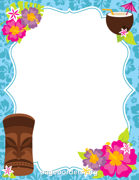 Hawaiian frame clipart clip free download Pin by Muse Printables on Page Borders and Border Clip Art | Luau ... clip free download