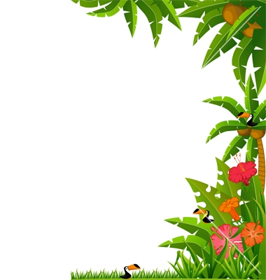 Tropical frame clipart free clip black and white library Free Tropical Border Cliparts, Download Free Clip Art, Free Clip Art ... clip black and white library