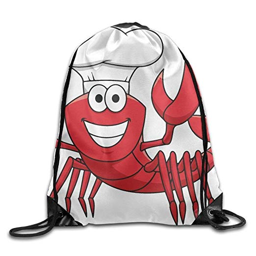 Alot on shoulders clipart clipart library download Amazon.com   Funny Crawfish Chef Print Drawstring Backpack Rucksack ... clipart library download