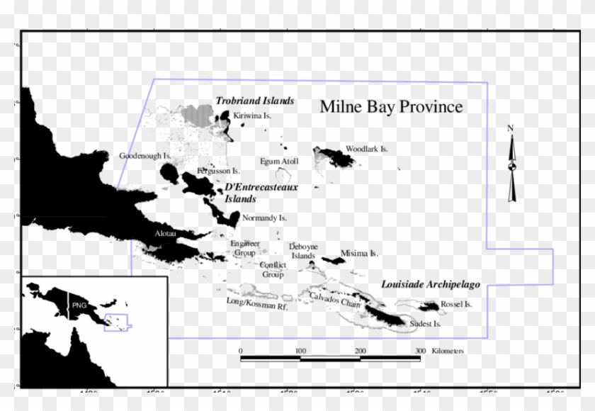 Alotau clipart vector transparent download Map Of Milne Bay Province Showing The Major Island - Milne Bay ... vector transparent download