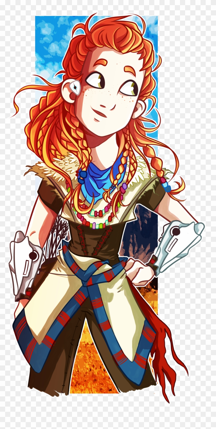 Aloy hzd clipart graphic free download Horizon Zero Dawn, First Person Shooter, Fanart, Geek - Aloy En ... graphic free download