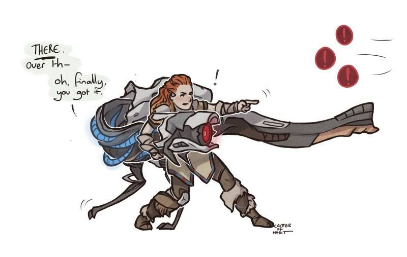 Aloy hzd clipart clipart royalty free Yes! All the time, they\'re so stupid, yet adorable XD | Fandoms in ... clipart royalty free
