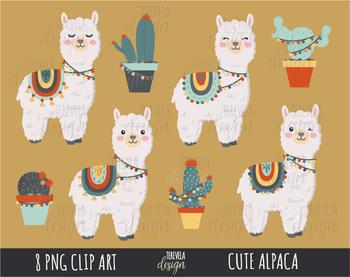 Llamas clipart, alpaca clipart, llama clipart, lama clipart, CACTUS picture transparent stock