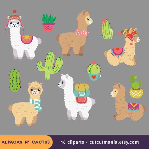Alpaca llama clipart svg library stock Cute alpaca clipart, cute lhama clipart, cactus clip art, alpacas ... svg library stock