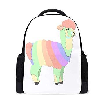 Alpaca llama clipart clip free library Amazon.com | Waterproof Alpaca Llama Clipart Backpack, Durable ... clip free library