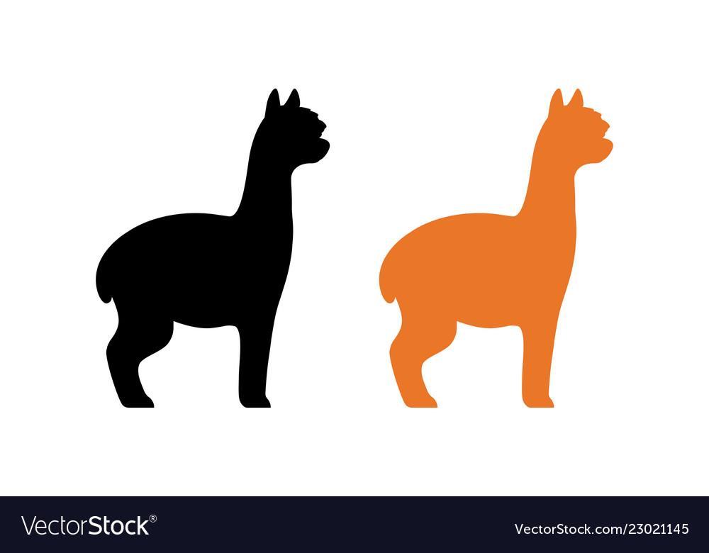 Alpaca silhouette clipart jpg library stock Silhouette Alpaca Vector Images (over 420) jpg library stock