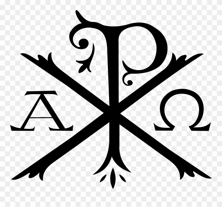 Alpha and omega symbols clipart clip art transparent download Chi Rho Alpha And Omega Christian Cross Symbol - Chi Rho Symbol ... clip art transparent download