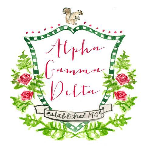 Alpha gamma delta clipart picture black and white Crest Decal - Alpha Gamma Delta picture black and white