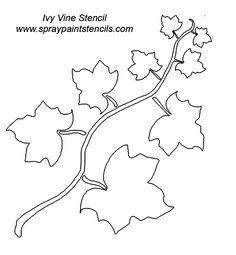ivy leaf template | Ivy Outline Clip Art Vector Online Royalty ... png black and white download