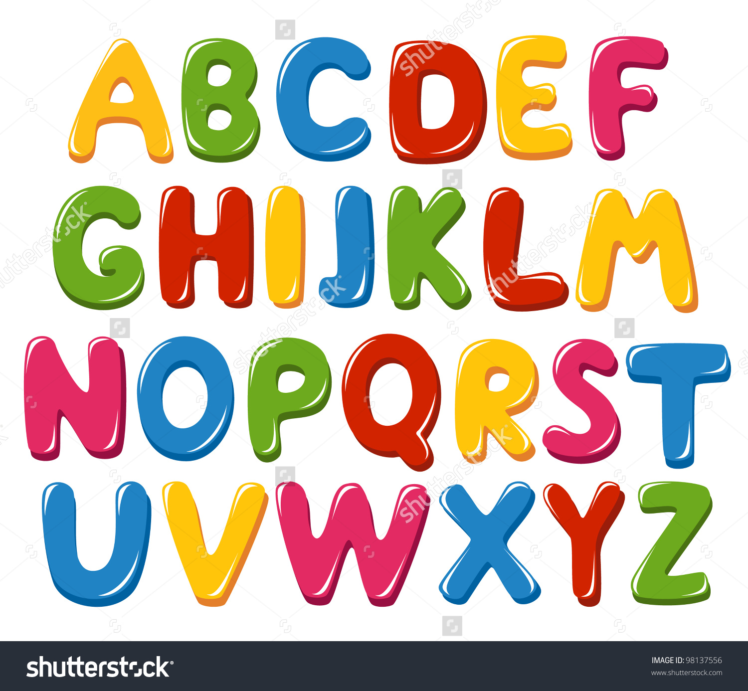 Alphabet clip free download Alphabet Letters Stock Vector 98137556 - Shutterstock clip free download