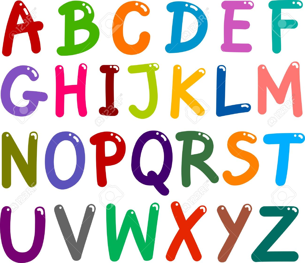 Cartoon images stock pictures. Alphabet
