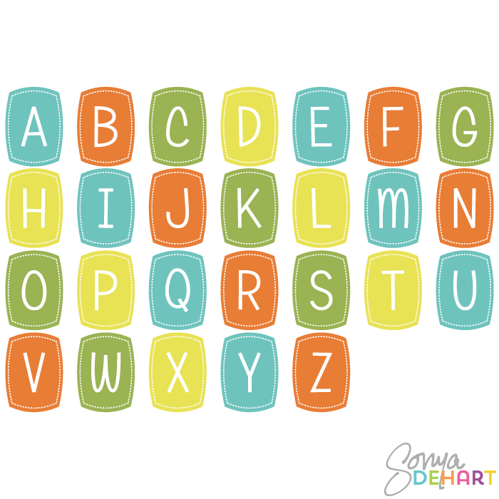 Alphabet clipart - ClipartFest banner royalty free download