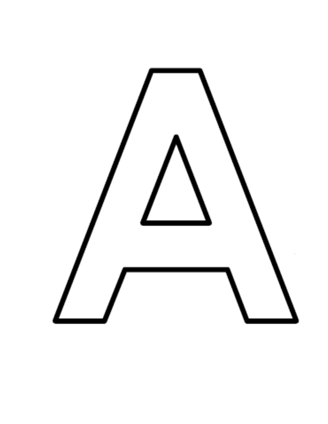 Alphabet a clipart black and white