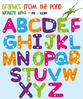Wowza Alpha- Alphabet Clipart For Teaching | Graphics, The pond ... clipart