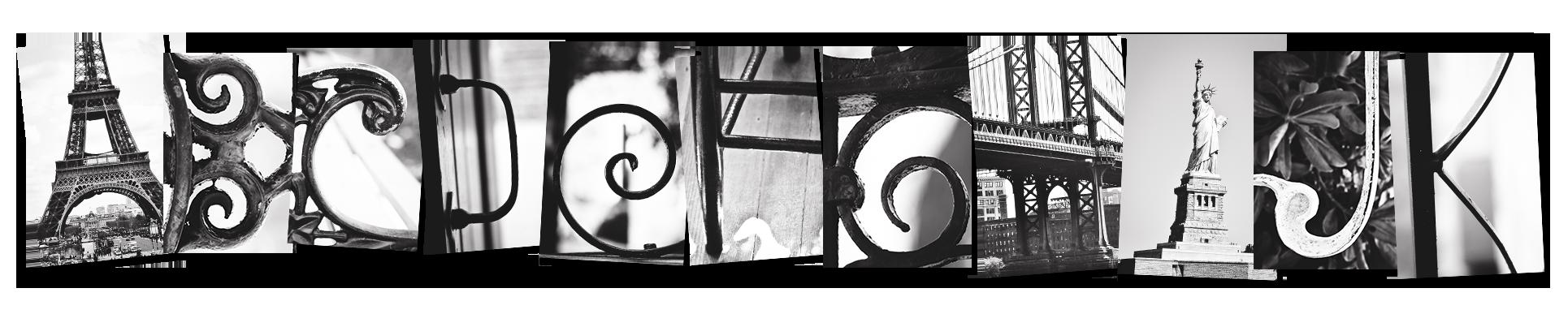 Alphabet art photography clipart