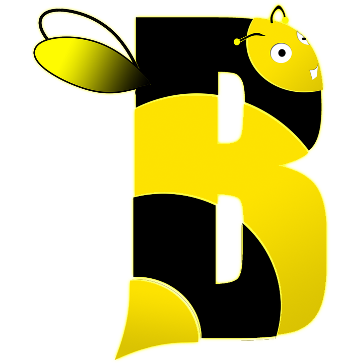 Alphabet bee abc clipart banner royalty free library Free illustration: Bee, Letter, B, Alphabet, School - Free Image ... banner royalty free library
