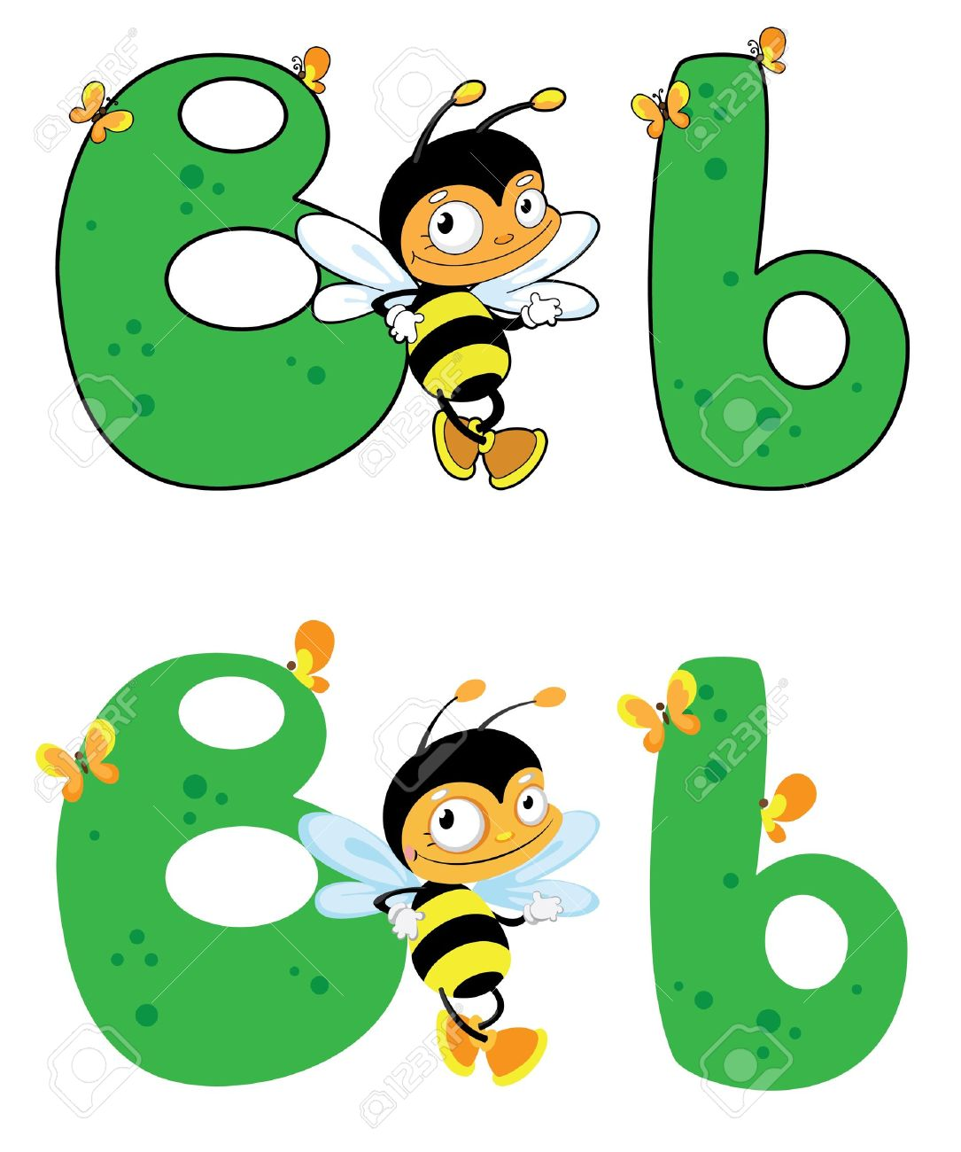 Alphabet bee abc clipart vector library library Illustration Of A Letter B Bee Royalty Free Cliparts, Vectors, And ... vector library library