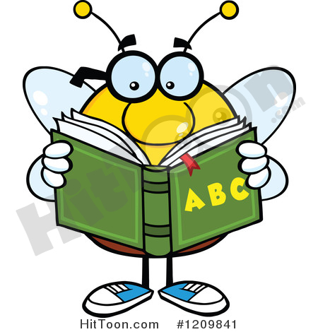 Alphabet bee abc clipart banner library download Bee Clipart #1209841: Bee Student Reading an Alphabet Book by Hit Toon banner library download