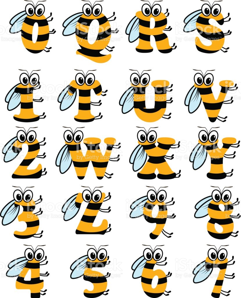 Alphabet bee abc clipart clip art library stock Latin Alphabet Funny Bee Abc stock vector art 645699226 | iStock clip art library stock