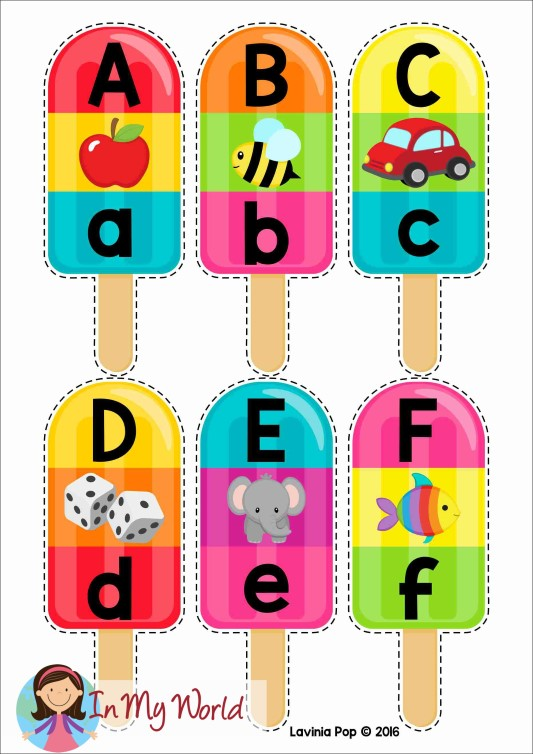 Alphabet beginning sounds clipart clip free stock Summer Popsicle Alphabet and Beginning Sounds - FREE Printable - In ... clip free stock