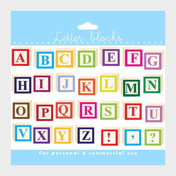 Alphabet block clipart graphic free download Alphabet clipart - letter blocks clip art, letterblocks clipart ... graphic free download