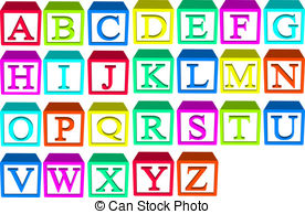 Blocks illustrations and clip. Alphabet block clipart