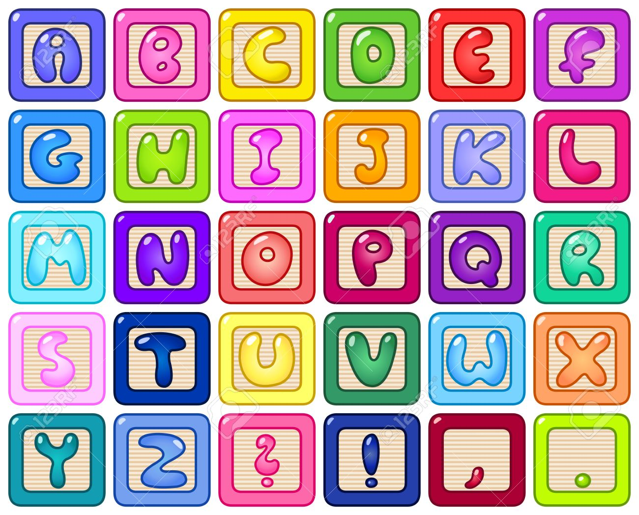 blocks stock illustrations. Alphabet block clipart