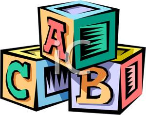 Stack of blocks picture. Alphabet block clipart