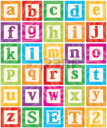 Alphabet block clipart.  blocks stock illustrations