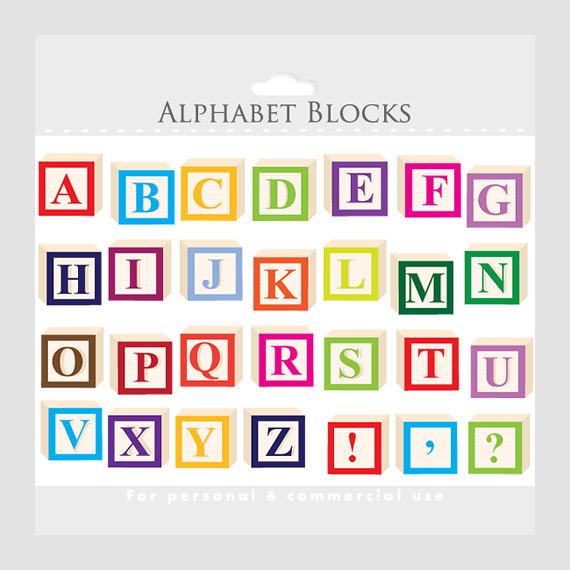 Alphabet block letter clipart