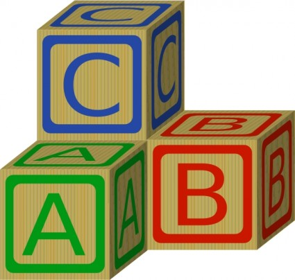 Clipart free download abc. Alphabet blocks clip art
