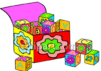 Alphabet blocks clip art png free stock Royalty Free Clip Art Image: Box Of Alphabet Blocks png free stock