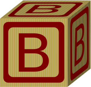 Alphabet blocks clip art. Block b at clker