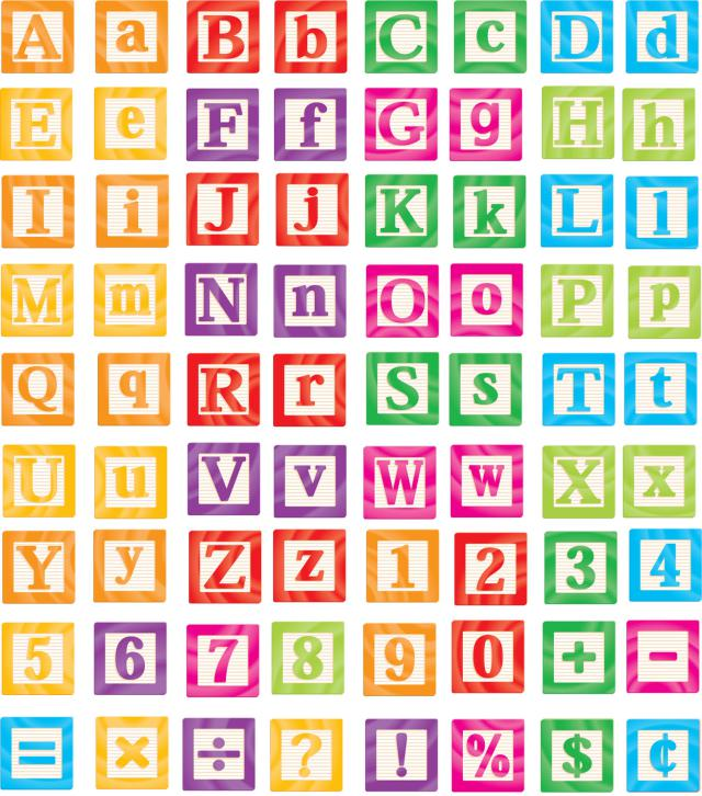 Alphabet blocks clip art vector freeuse library Alphabet Block Letters Clipart - Clipart Kid vector freeuse library
