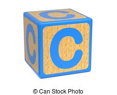 Alphabet blocks clipart. Wooden block stock illustrations