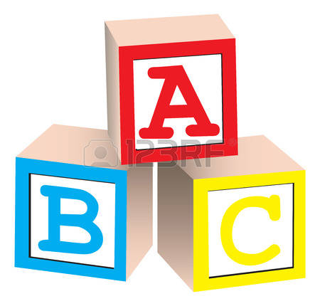 stock illustrations cliparts. Alphabet blocks clipart