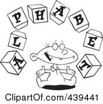 Alphabet blocks clipart outline svg free library Royalty-Free (RF) Clip Art Illustration of a Cartoon Baby Playing ... svg free library
