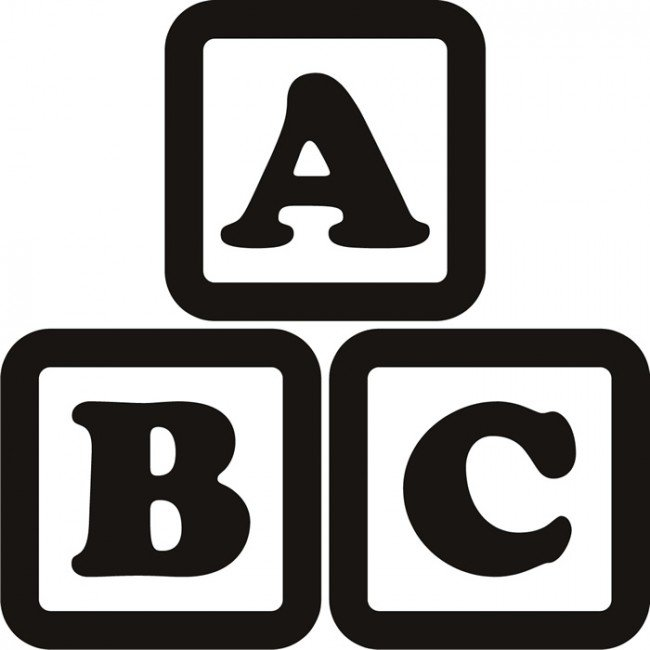 Clipartfest abc black and. Alphabet blocks clipart outline
