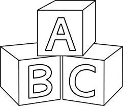 Alphabet blocks clipart outline png transparent Image result for black and white baby clipart images | baby stuff ... png transparent