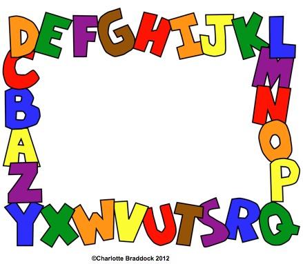 Alphabet border clip art. Abc blocks clipart clipartfest