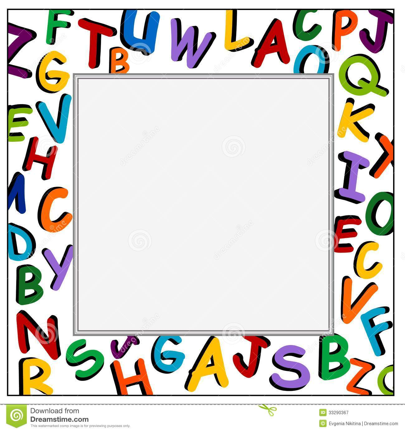 Frame clipart clipartfest on. Alphabet border clip art