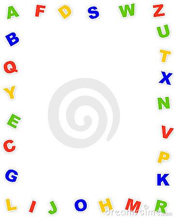 Abc clipart kid stock. Alphabet border clip art